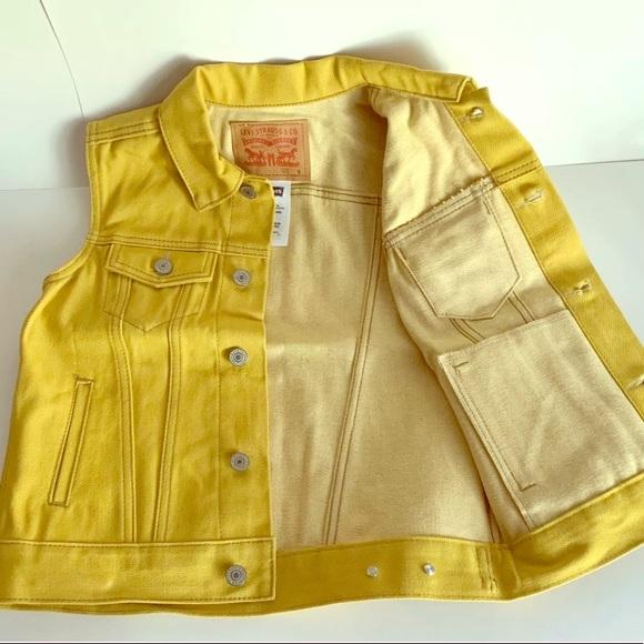Levi's Other - Levi's Mustard Yellow Gold Jean Vest M, L, XL